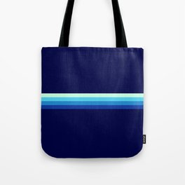 Nagayasu - Classic Maritime Blue Minimal Retro Stripes Tote Bag