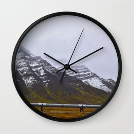 Autumn in the North Slope Wall Clock