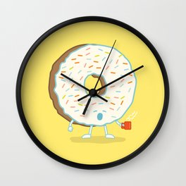 The Sleepy Donut Wall Clock
