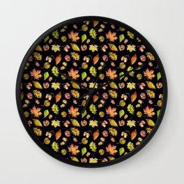 Autumn Forest pattern Wall Clock