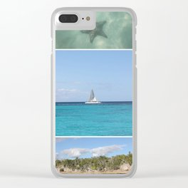 Scenic Caribbean Collage Clear iPhone Case