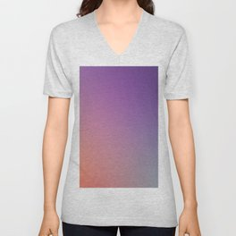 GUILTY  CONSCIENCE - Minimal Plain Soft Mood Color Blend Prints Unisex V-Neck