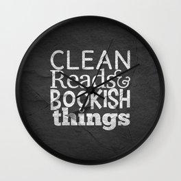 Clean Reads & Bookish Things - CRBB Motto Wall Clock