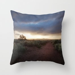 New Mexico Sunset Throw Pillow