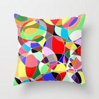 musa Throw Pillows featuring Love Doodles by DeMoose Art