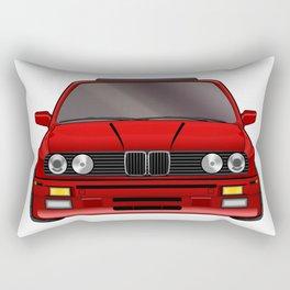 M3 E30 Red Rectangular Pillow