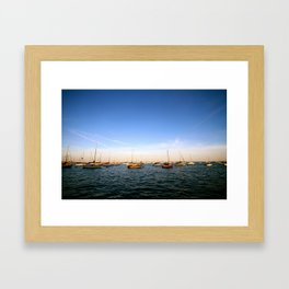 Lake Michigan Sailboats Framed Art Print