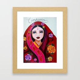 Compassionate heart Framed Art Print
