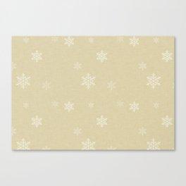 Snow Flakes pattern Yellow #homedecor #nurserydecor Canvas Print