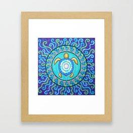 Sea Turtle Mandala by Soozie Wray Framed Art Print