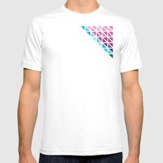 Triangles #7 Mens Fitted Tee White MEDIUM