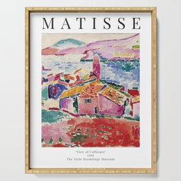 View of Collioure - Henri Matisse - Exhibition Poster Serving Tray