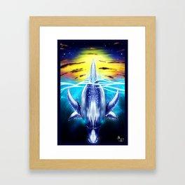 Dolphin's Dive Framed Art Print