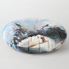 Trapani art 11 Floor Pillow