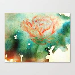 Underwater Flower Canvas Print