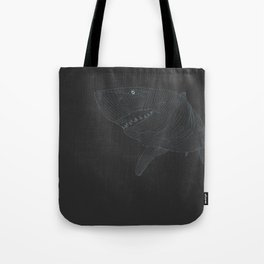 All lines lead to the...Great White Shark Tote Bag