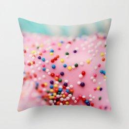Pink Donuts Throw Pillow