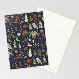 Winter Nights Stationery Cards