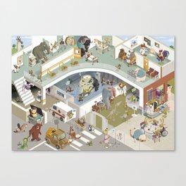 Krankenhaus der Tiere Canvas Print