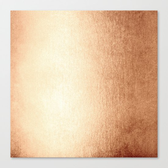Simply Deep Bronze Amber Canvas Print