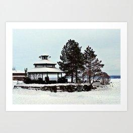 Gazebo on the Lake Art Print