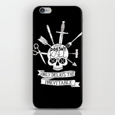 What Doesn't Kill Me - Black iPhone & iPod Skin