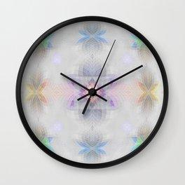 Pastel Kalidescope Sacred Geometry Quilt Print Wall Clock