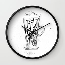 Coffee latte cup Wall Clock