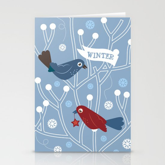 4 Seasons - Winter Stationery Cards