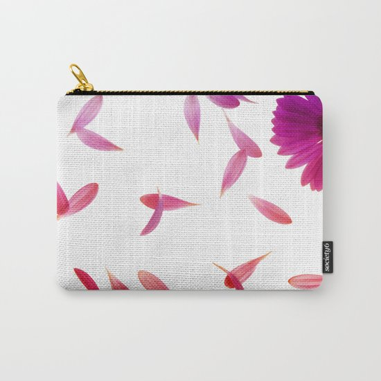 purple petaled flower  Carry-All Pouch