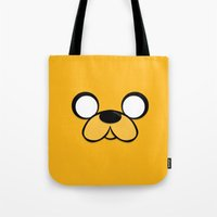 jake Tote Bags featuring Jake by Expired Kimchi
