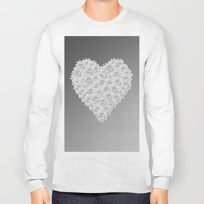 White heart Long Sleeve T-shirt