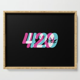 420 | Smoke Weed Cannabis Pot Gift Ideas Serving Tray