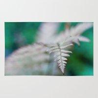 fern Area & Throw Rugs featuring fern by Bonnie Jakobsen-Martin