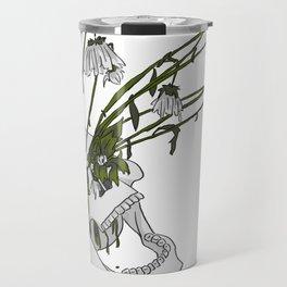 Dia De Los Muertos Art - Skull Flowers Travel Mug