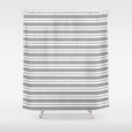 Classic Stripe in Grey Shower Curtain