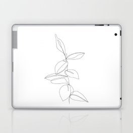 One line minimal plant leaves drawing - Berry Laptop & iPad Skin