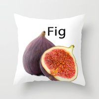 fig Throw Pillows featuring Fig by PerfectImperfections