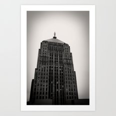 Chicago Board of Trade Building Black and White Art Print