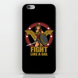 Fight like a Gal iPhone Skin