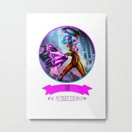 League Of Legends - Vi Metal Print