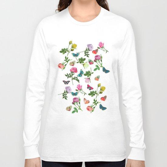 Las Rosas & Mariposas II Long Sleeve T-shirt