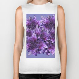 CLUSTERS PURPLE QUARTZ CRYSTALS Biker Tank