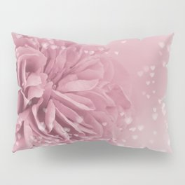 Light Pink Rose with hearts #1 #floral #art #society6 Pillow Sham