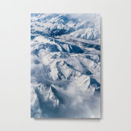 The Photo With Mountains And Snow Metal Print