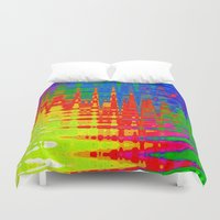 chaos Duvet Covers featuring Chaos by Geni