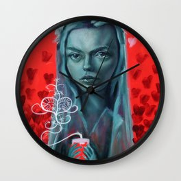 Lady Erzulie, Voodoo Goddess of Love Wall Clock