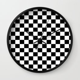 Black White Boxes Design Wall Clock