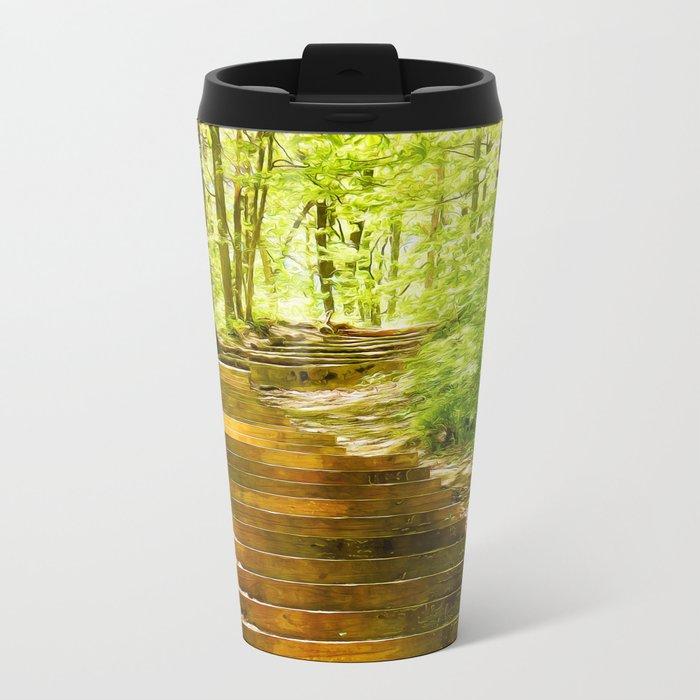 Steps Through The Forest Travel Mug