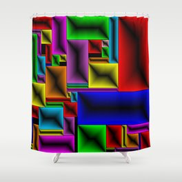 ColorBlox - Hammered Shower Curtain